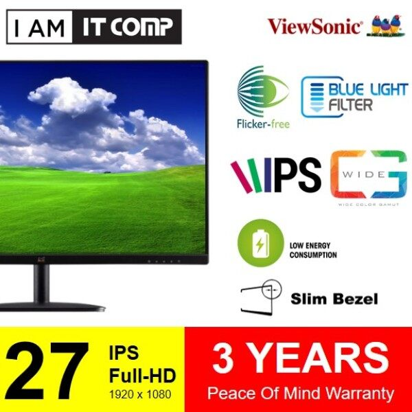 """VIEWSONIC 27 Inch VA2732-H - 27"""" IPS Monitor Featuring HDMI SuperClear® IPS Technology Malaysia"""