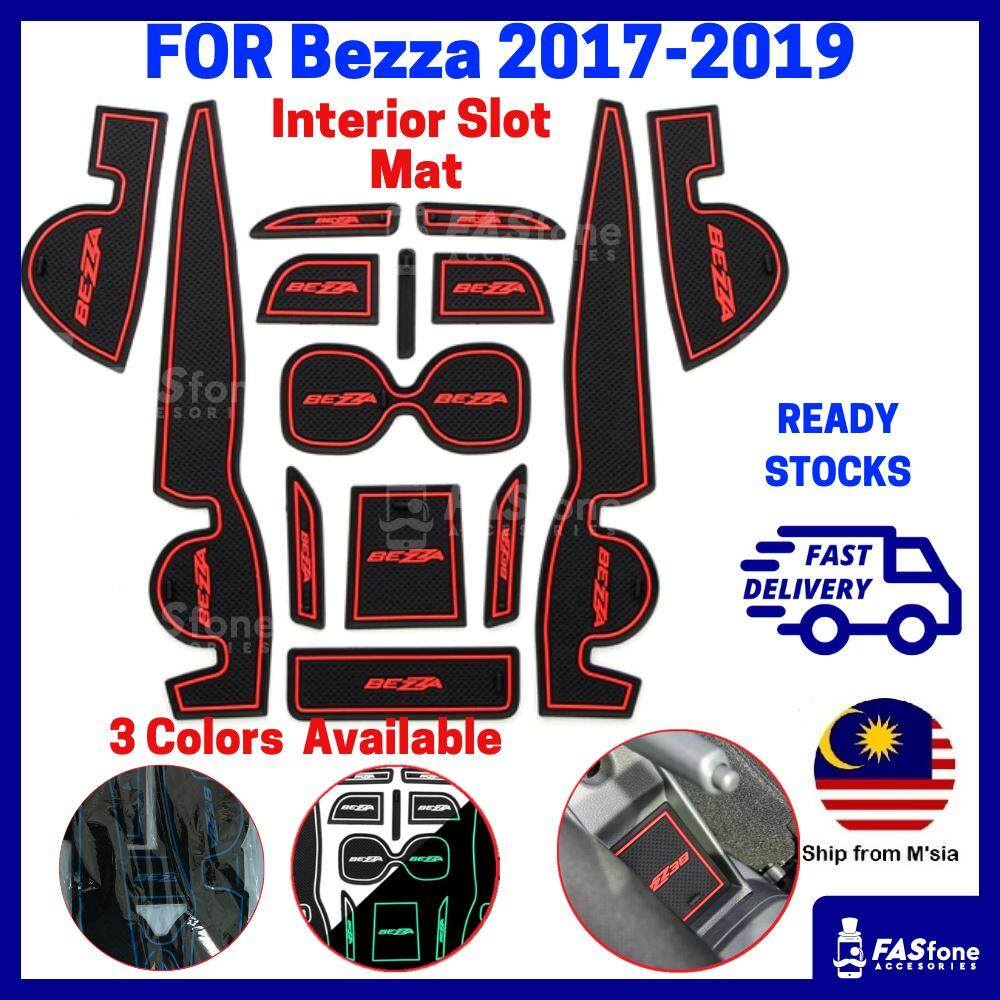(msia Ready Stocks) Bezza 2017 2019 Perodua Bezza Mat Bezza Interior Slot Mat By Fasfone Accessories.