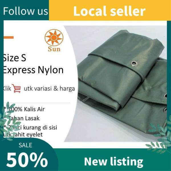 Express Nylon Size S PVC Tarpaulin Kanopi Khemah Kanvas Dinding Ready-Made Cover Lorry Canvas Canopy Tent Extension
