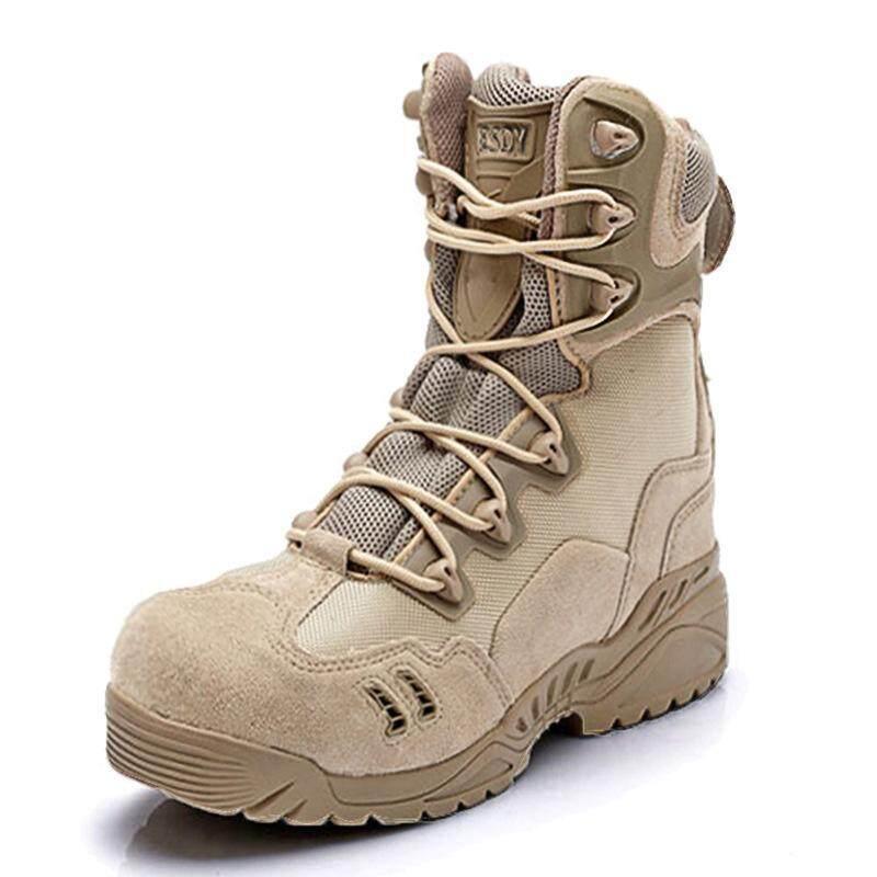 กลางแจ้งรองเท้าปีนเขา Slip ทนต่อการสึกหรอ Forces รองเท้าบูตลุยป่า By Waterlily.