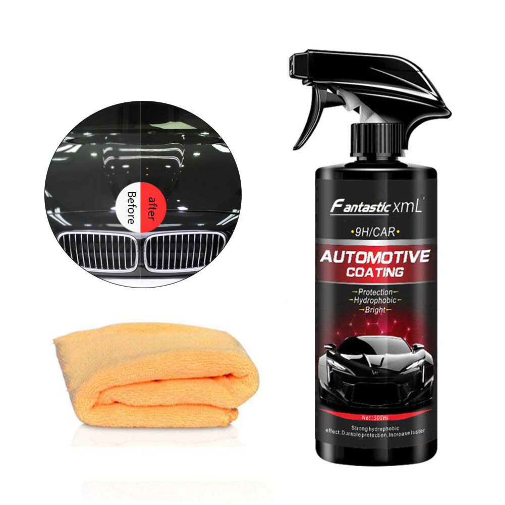 LWJ Ceramic Spray Coating Car Polish Spray Sealant Top Coat Quick Nano-Coating 500ML Car Spray Wax Car Cleaning For Car