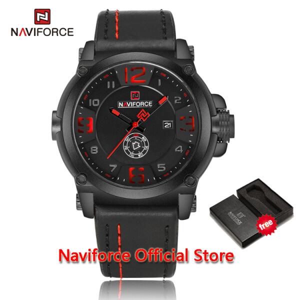 NAVIFORCE Men Sport Military Casual Quartz Date Week Leather Waterproof Male Wristwatch Watch Relogio Masculino Jam Tangan lelaki NF9099 Malaysia