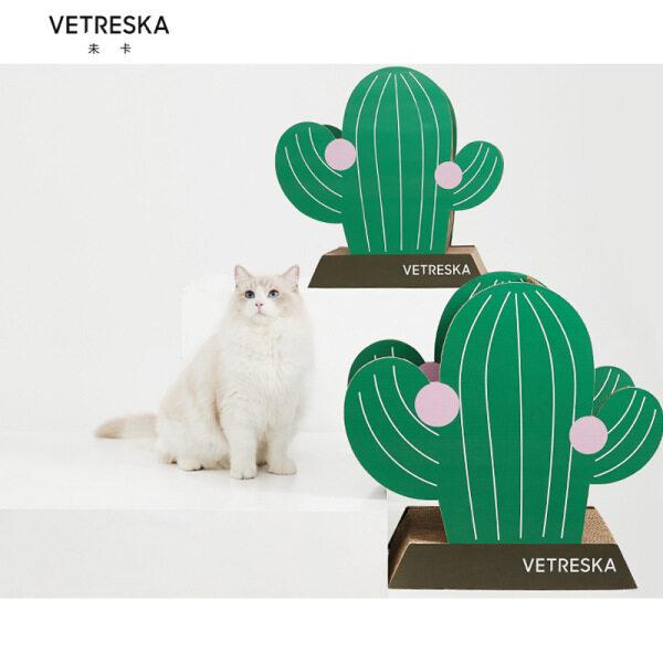 Vetreska xương rồng mèo scratcher tông sóng mèo cào bài cho mèo và mèo trưởng thành
