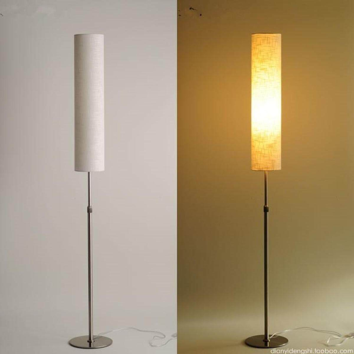 LED Floor Lamp Nordic Lamp Remote Adjustable Height 130-180 Cm Stainless Steel Material and Garment Vertical Indoor Lighting