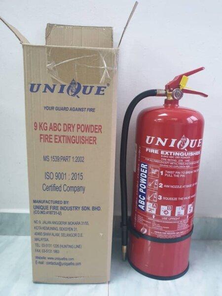BRAND (UNIQUE FIRE) 9KG ABC DRY POWDER FIRE EXTINGUISHER. 9KG
