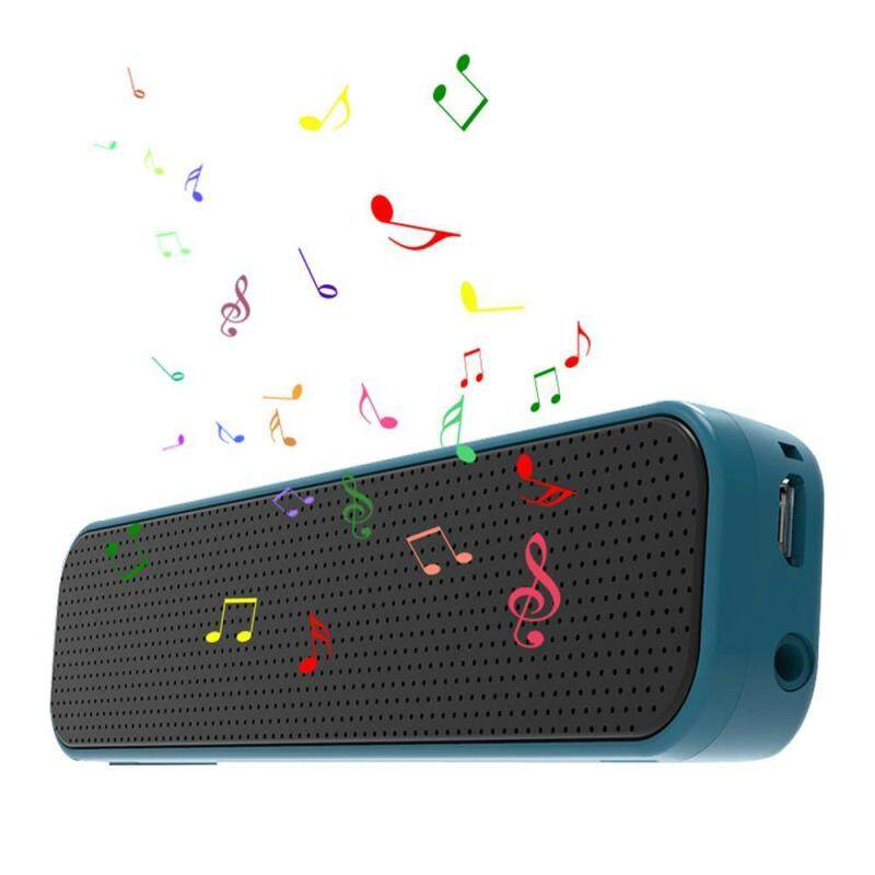 niceEshop Portable Bluetooth Speakers, Mini Bluetooth Soundbars with One-button Operation, Built-In Dual Driver Speakerphone, Handsfree Calling, for Smartphone Singapore