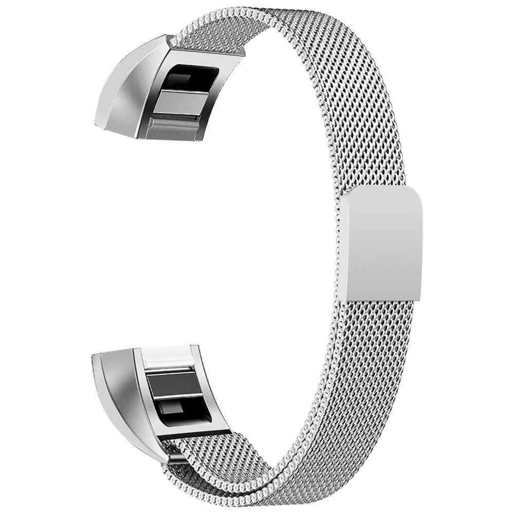 Fashion Stainless Steel Magnet 2 Size Large Small Replacement Watch Band (silver) Malaysia