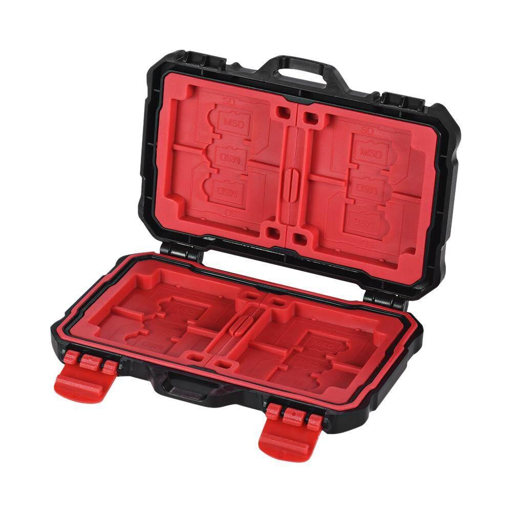 Giá LYNCA Kh 10 Chống Nước CF/SD/SDHC/TF/MSD Thẻ Nhớ Hộp Bảo Quản Viên mang Theo Giá Đỡ Sắp Xếp Lưu Trữ 24 Khe Cắm Cho Sandisk Transcend Lexar Kingston