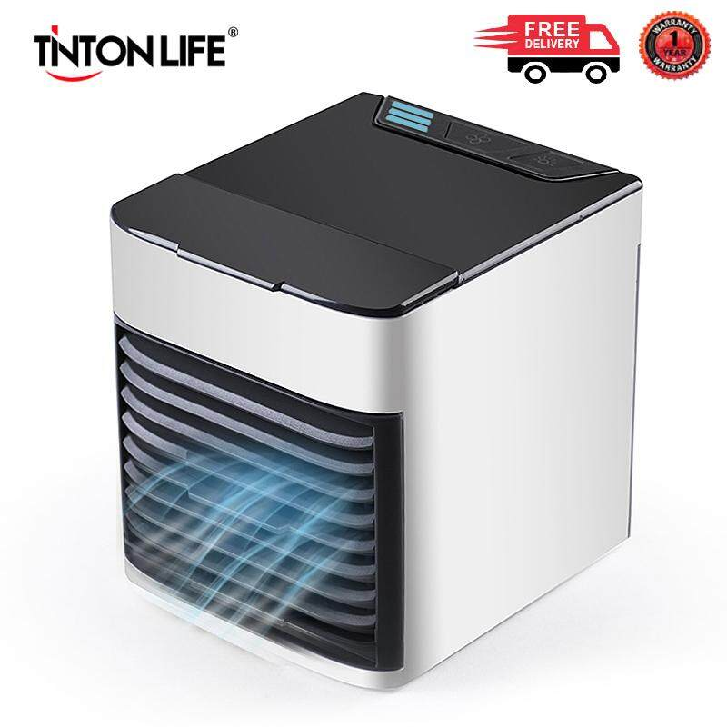 TINTON LIFE USB Portable Air Cooler Colorful LED Air Cooling Fan for Office  Home