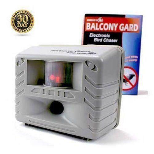 Bird-X 100% Original Balcony Gard Motion Sensor Silent Ultrasonic Deterrent  Bird Repellent Electronic Repeller Device