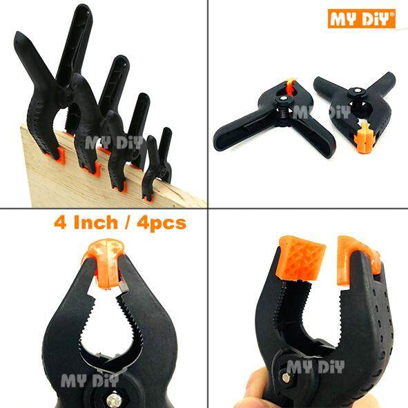 """MYDIYBANDARPUCHONGJAYA - High Quality Nylon Woodworking Clip Clamp / Wood Fixing Clips Spring Clips DIY Tools Available Size 2"""", 3"""", 4' Or 6"""""""