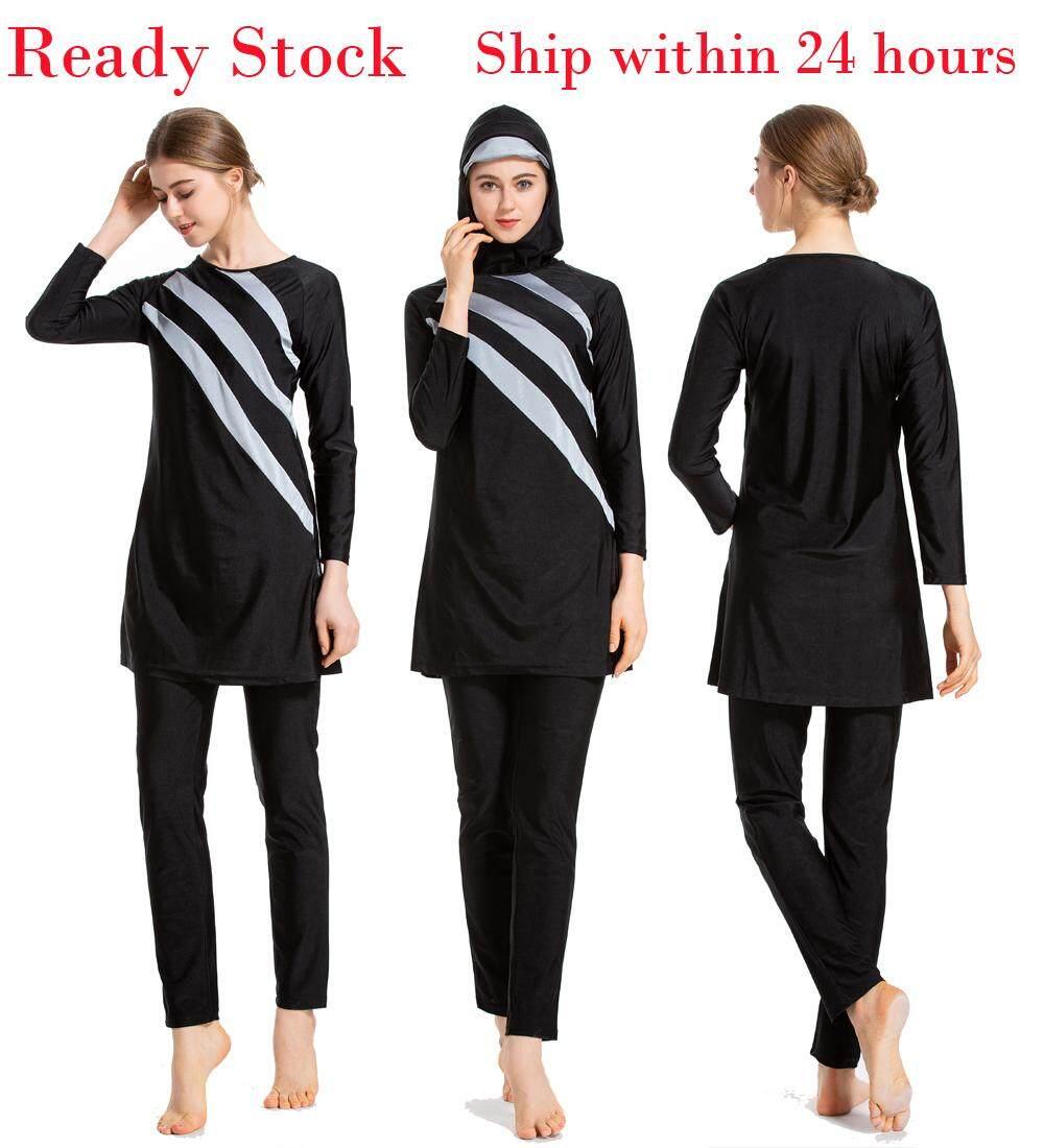 68568e970 S-6XL Plus Size Burkini Women Muslim Swimwear Beach Bathing Suit Muslimah Islamic  Swimsuit Sports