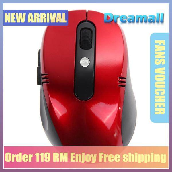 Dreamall Optical Wireless Mouse USB Receiver RF 2.4G(Red) Malaysia