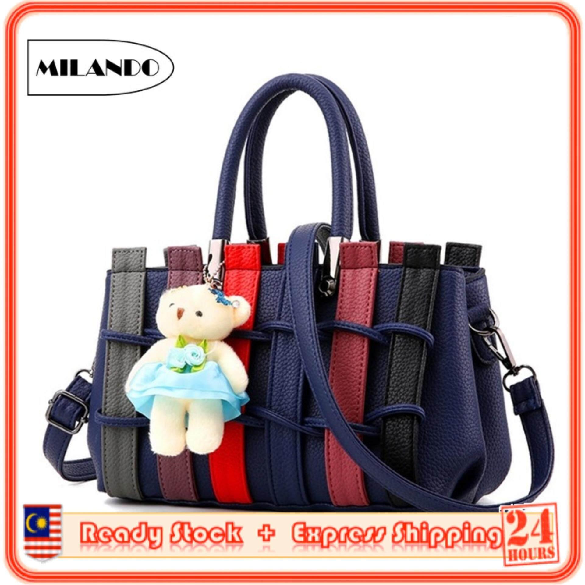 009e41c6e638 MILANDO Ladies Women PU Leather Handbag Tote Sling Bag Handbeg Beg Wanita  (Type 8)