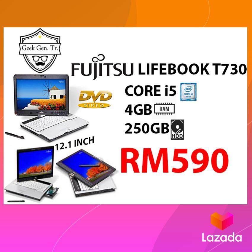 FUJITSU LIFEBOOK T730 CORE i5 4GB RAM 250GB HDD 12.1 INCH Malaysia