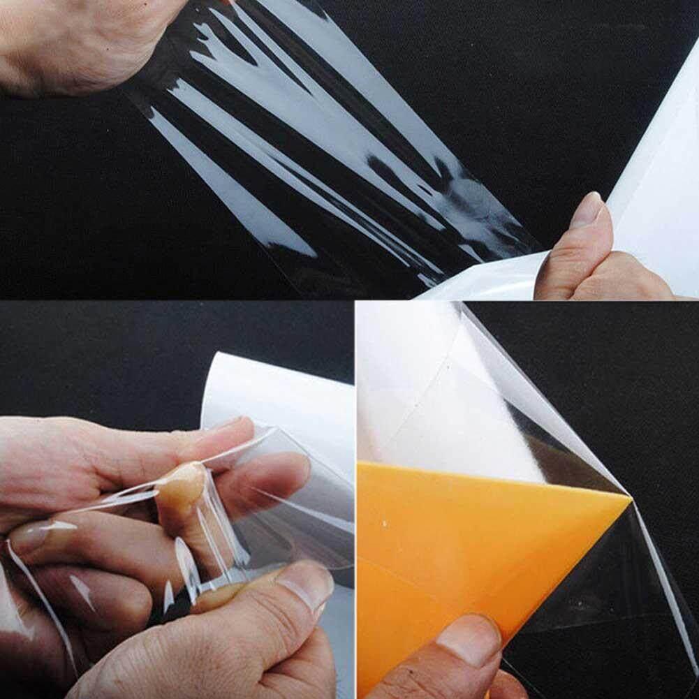 6 X 118 Clear Anti Scratch Car Door Sill Edge Paint Protection Vinyl Film Sheet