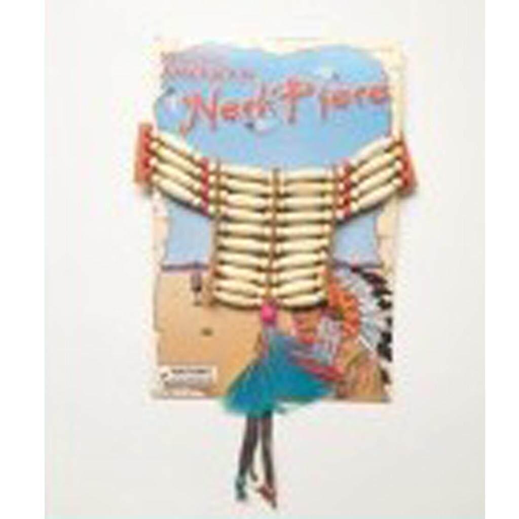 Fenteer Native American Indian Neckpiece Choker Necklace Feather Costume Accessory
