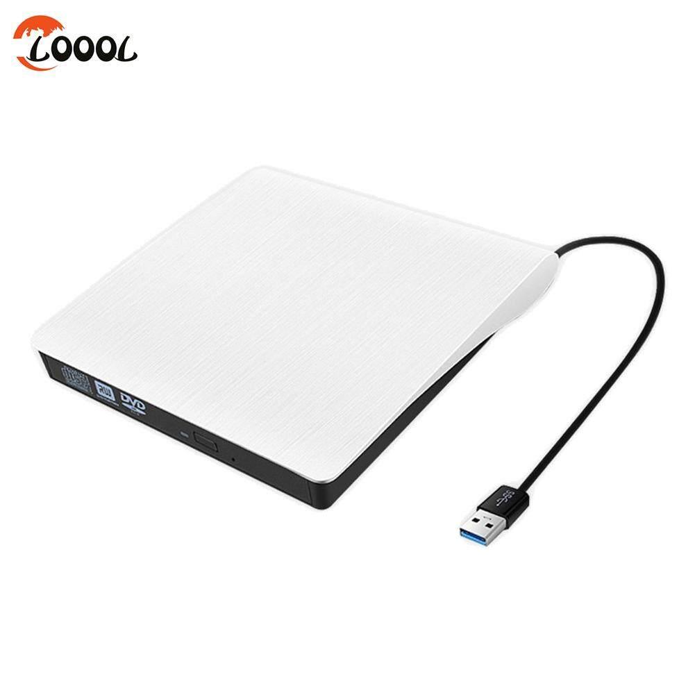 Loool USB 3.0 Slim External DVD RW CD Drive Writer High Speed Portable for Laptop PC