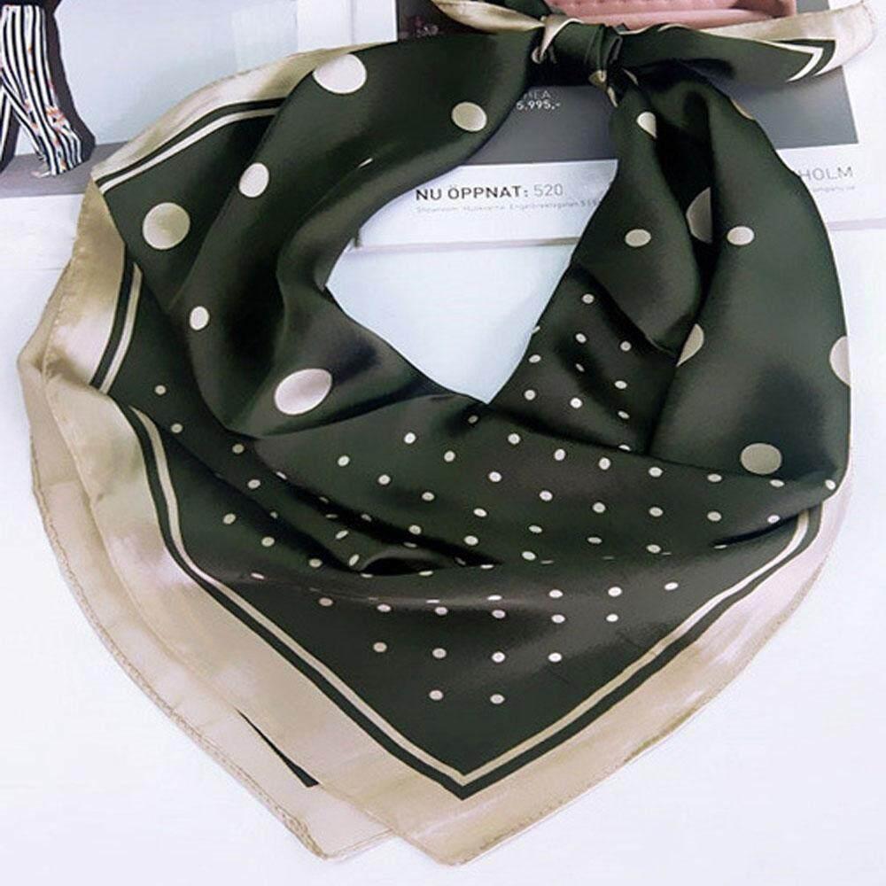 Giá bán 1 * thời trang Vuông Nhỏ Khăn Trang Trí Scarve Điểm Nhỏ Giả Lụa Túi