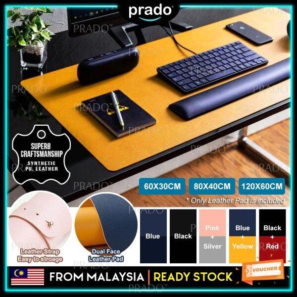 PRADO Malaysia Korean Style Anti-Slip Dual Face Large Mousepad Keyboard Mouse Pad Waterproof PU Leather Rubber Gaming Mouse Pad Portable Travel Size 60X30CM 80X40CM 120X60CM Malaysia
