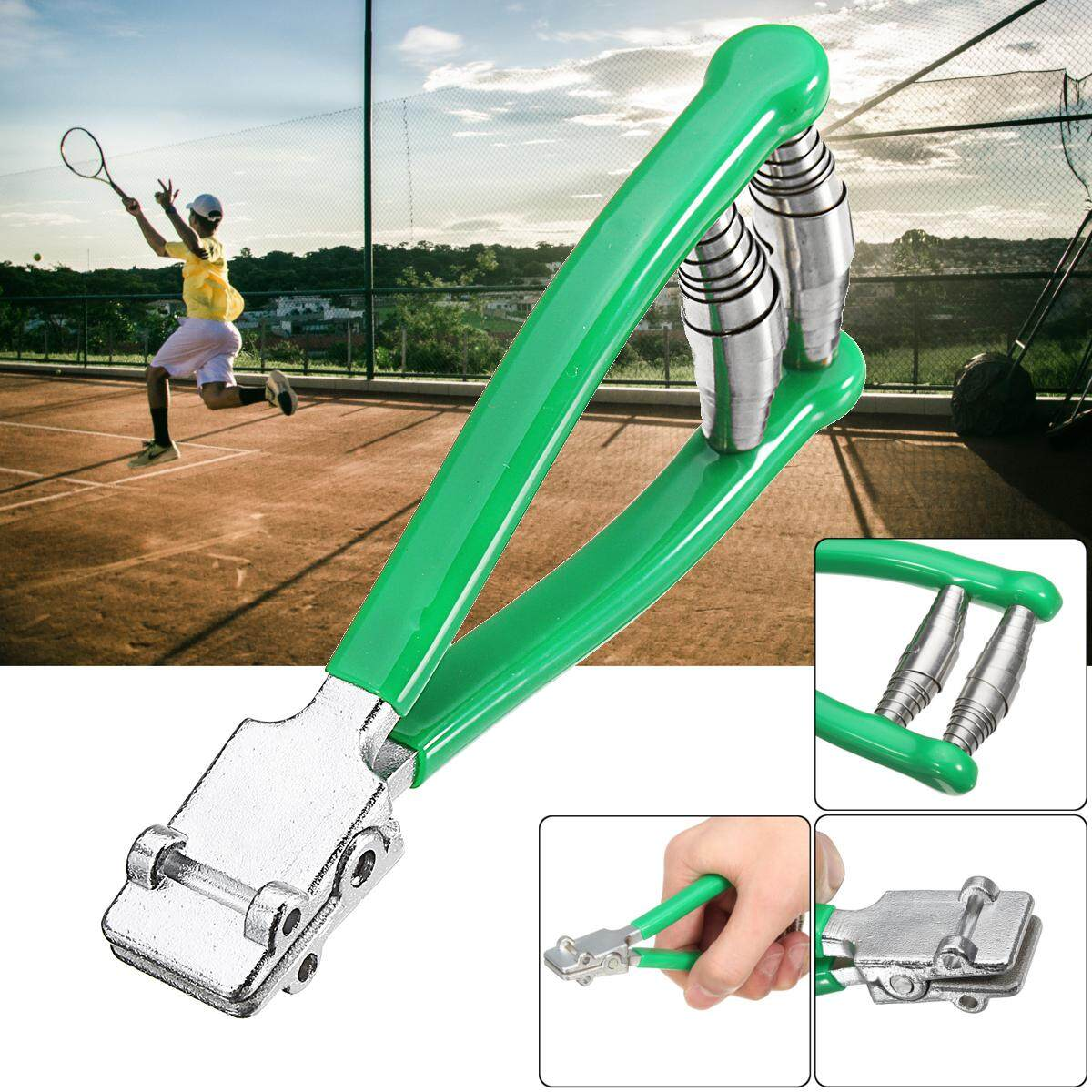【free Shipping + Flash Deal】stainless Starting Clamp Tennis Squash Badminton Racquet Racket Stringing Tool By Elec Mall.
