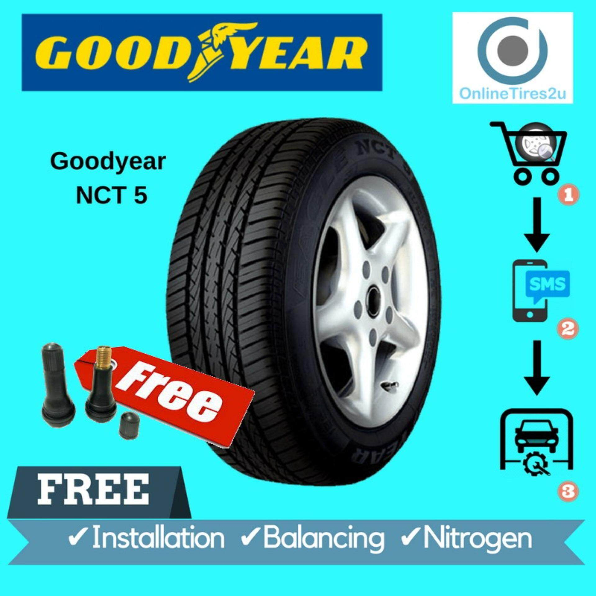 Goodyear Nct 5 - 175/65r14 (dot2018) (with Installation) By Onlinetires2u.