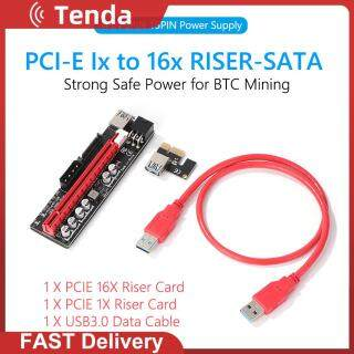 Cáp 009S Plus 3A USB 3.0 Bộ Nguồn 4P 6P 15P Cho Khai Thác Bitcoin Đồ Họa Card Video PCI Express Riser Card PCIE 1X Đến 16X Bộ Chuyển Đổi Mở Rộng thumbnail