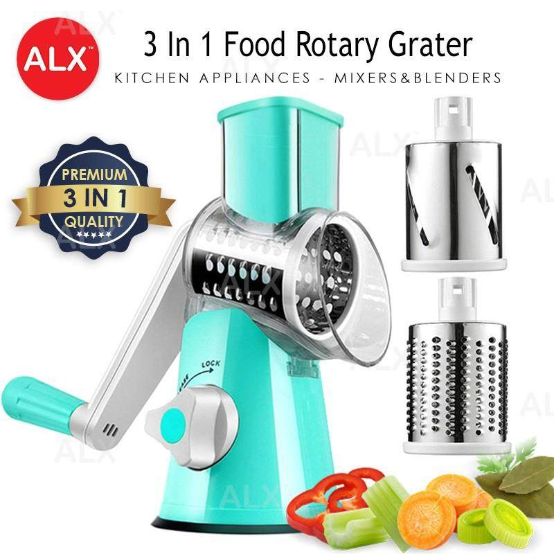 READY STOCK 3 Sharp Drums Manual Food Rotary Grater Shredder Meat Chopper Grinder MB
