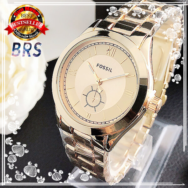 [With Box] Ready Stock! FOSSIL Original New Top Brand watches women branded Luxury Gold watches for women Luminous fashion Stainless Steel ladies Wristwatch Malaysia
