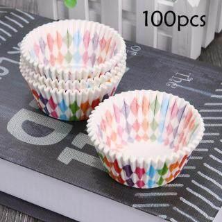 [Chinatera] 100 Pcs Miếng Lót Bánh Cupcake Chén Nướng Khuôn Bánh Cupcake Vỏ Giấy Trang Trí Bánh thumbnail