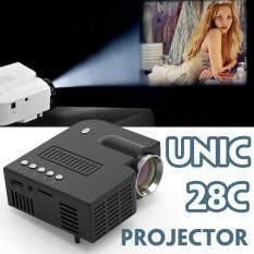 Máy Chiếu LCD Di Động UNIC 28 +, Hỗ Trợ Màn Hình 1080P, HDMI, VGA, USB, Thẻ SD