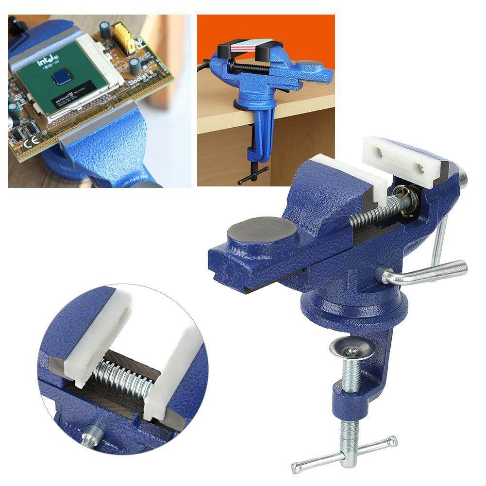 【Made in Italy 】Mini DIY 360° Rotating Alloy Clamp Vise Equipment for Table Electric Drill
