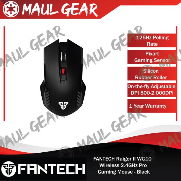 FANTECH Raigor II WG10 Wireless 2.4GHz Pro Gaming Mouse - Black Malaysia
