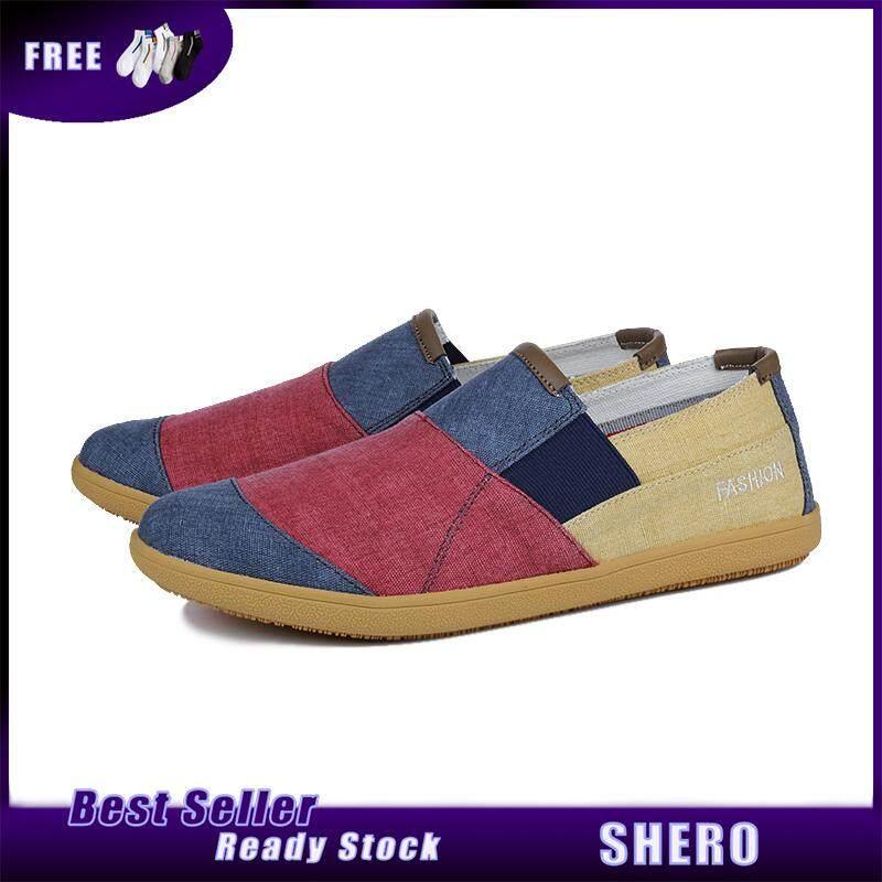 SHERO แฟชั่นผู้ชายรองเท้าสบายๆลื่น Breathable รองเท้ารองเท้าผ้าใบคลาสสิกรองเท้าสบายรองเท้า Loafers