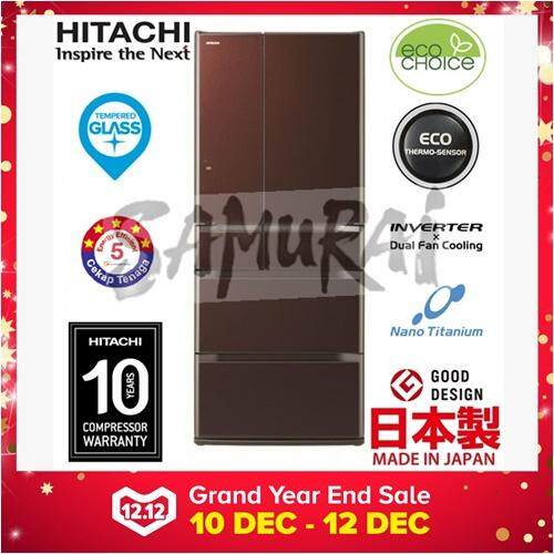 HITACHI 6 MULTI DOOR INVERTER FRIDGE MADE IN JAPAN 657L RE6200M