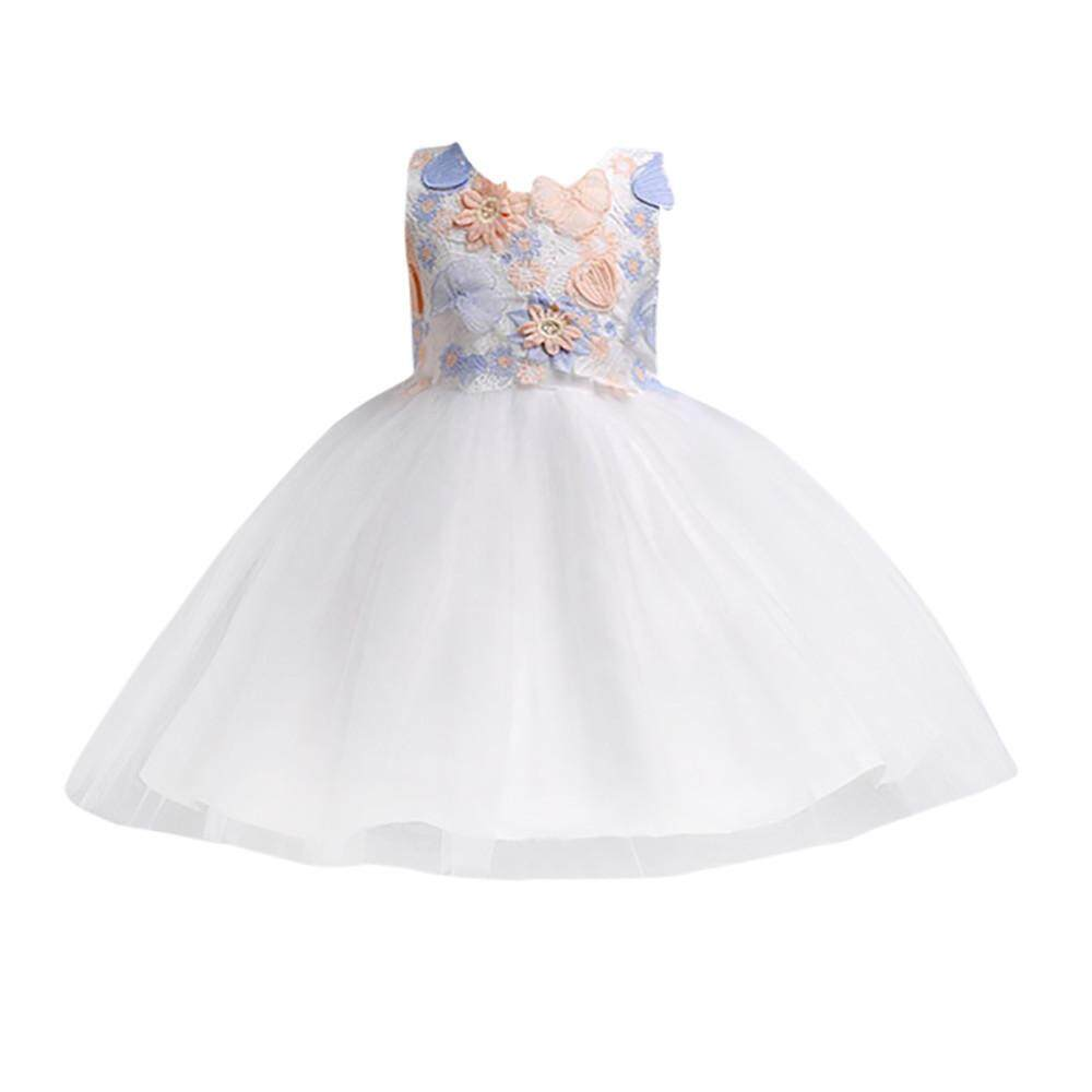 ceb9e9e9e77 Myapple Toddler Kids Girls Wedding Flower Dress Lace Princess Party Formal Dress  Clothes