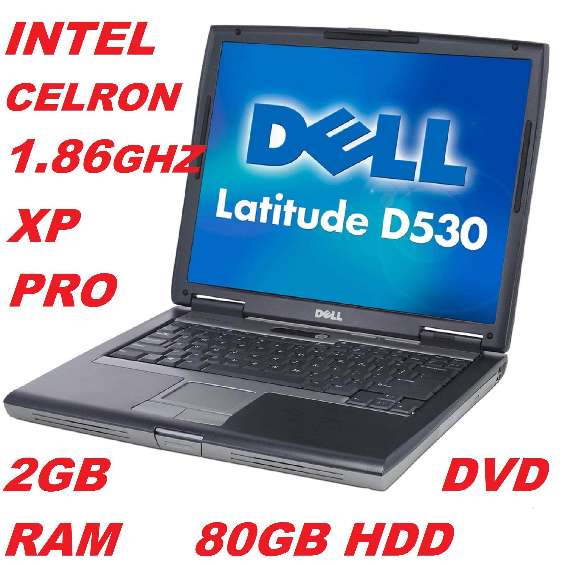(REFURBISHED)DELL LATITUDE D530, INTEL CELRON 1.86GHZ PROCESSOR, 2GB RAM/80GB HDD/14 LCD/DVD/ BUILT IN WIFI/WIN XP PRO Malaysia