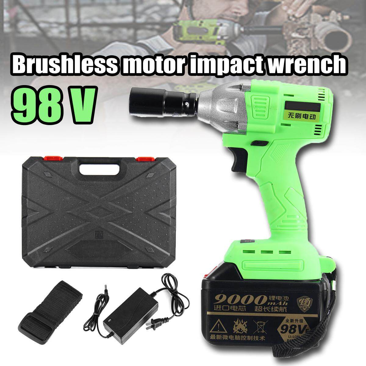 【Free Shipping + Super Deal + Limited Offer】98V Cordless Lithium-Ion Electric Impact Wrench Brushless 3 Speed Torque 520 Nm