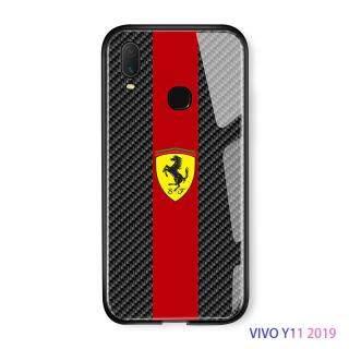 Ucuc Cho Vivo Y11 2019 Thủy Tinh Vỏ Điện Thoại Thời Trang Cổ Điển Logo Xe Hơi Ốp Thiết Kế Lưng Kính Cường Lực Bìa Ốp Điện Thoại thumbnail