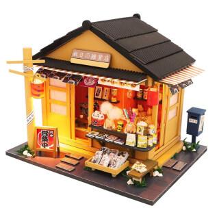 Microgood Tự Lắp Ráp Thu Nhỏ LED Cửa Hàng Tạp Hóa Nhật Bản Nhà Búp Bê Mô Hình Em Bé Đồ Chơi thumbnail