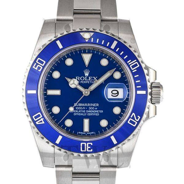 Ròlex Submariner Date White Gold Oyster Bracelet Automatic Blue Dial Mens Watch Malaysia