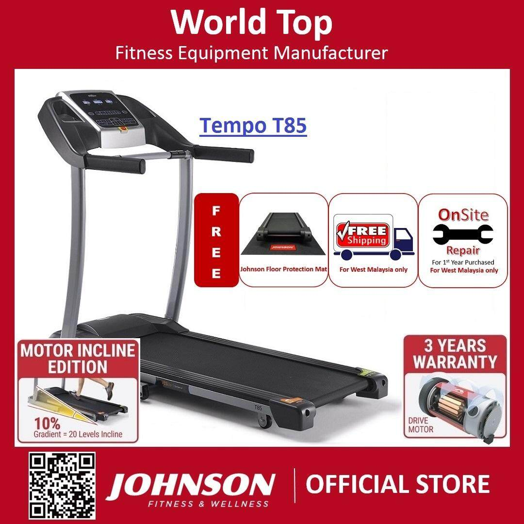 Asia No. 1 Johnson Fitness Tempo T85 Motorized Treadmill Running Machine (3 Years Warranty On Drive Motor) By Johnson Fitness.