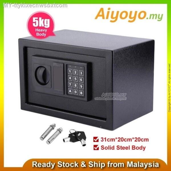 5Kg Digital Electronic Safety Box Safe Box E20Ek Burglary Anti-Theft Box Keypad Coded Lock Home Office Hotel Personal Ca