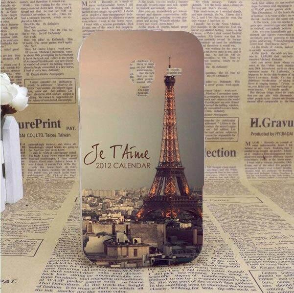 Gaya Cetak Pola Menara Eiffel Desing Wadah PENUTUP UNTUK Samsung GALAXY Ace 2 II I8160 8160 Case S DIY Warna-warni Penutup Pola