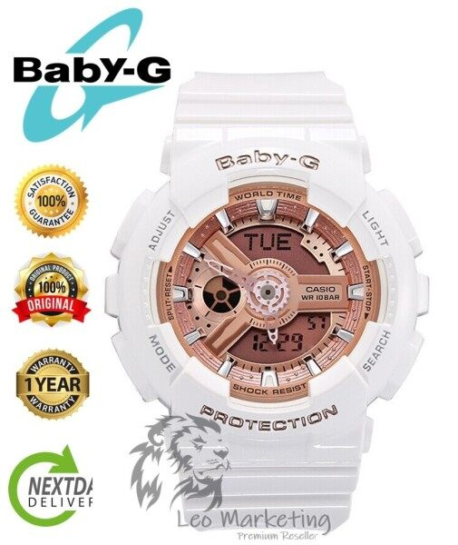 Leo Marketing 100% Original (Hot Sale) Casi0 Baby_G BA110 Rose Pink Wrist Watch Women Sport Watches Full Seal Pack Box & Warranty Malaysia
