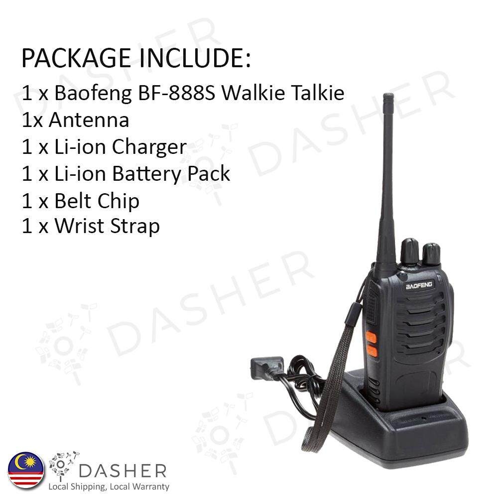 BaoFeng BF 888S 3KM Walkie Talkie 16 Channel Radio UHF 5W Original - BF888S 888S 888 Handy Walkie-Talkies Malaysia