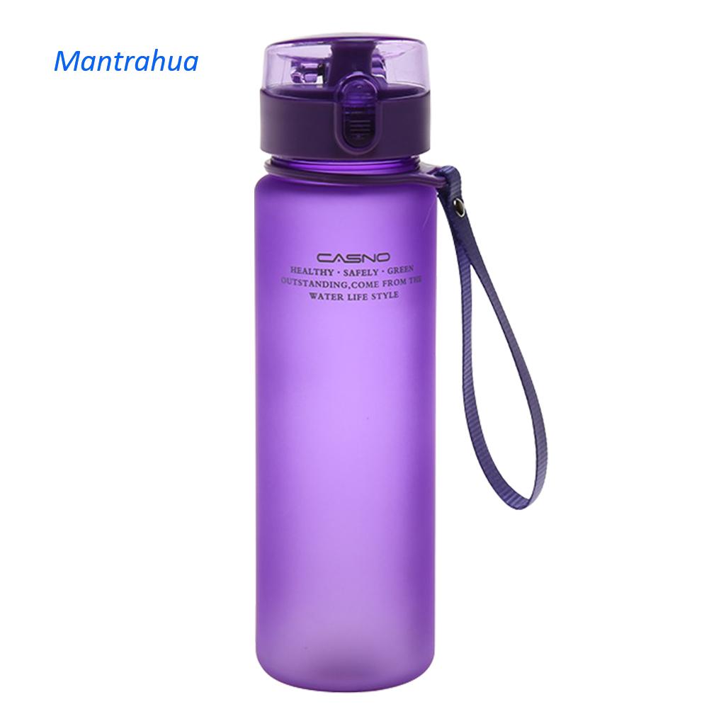 Mantrahua 400Ml 560Ml BPA Free Leak Proof Thể Thao Chai Nước Chất Lượng Cao Du Lịch Di Động Đi Bộ Đường Dài Outoor Thể Thao Chai Nước