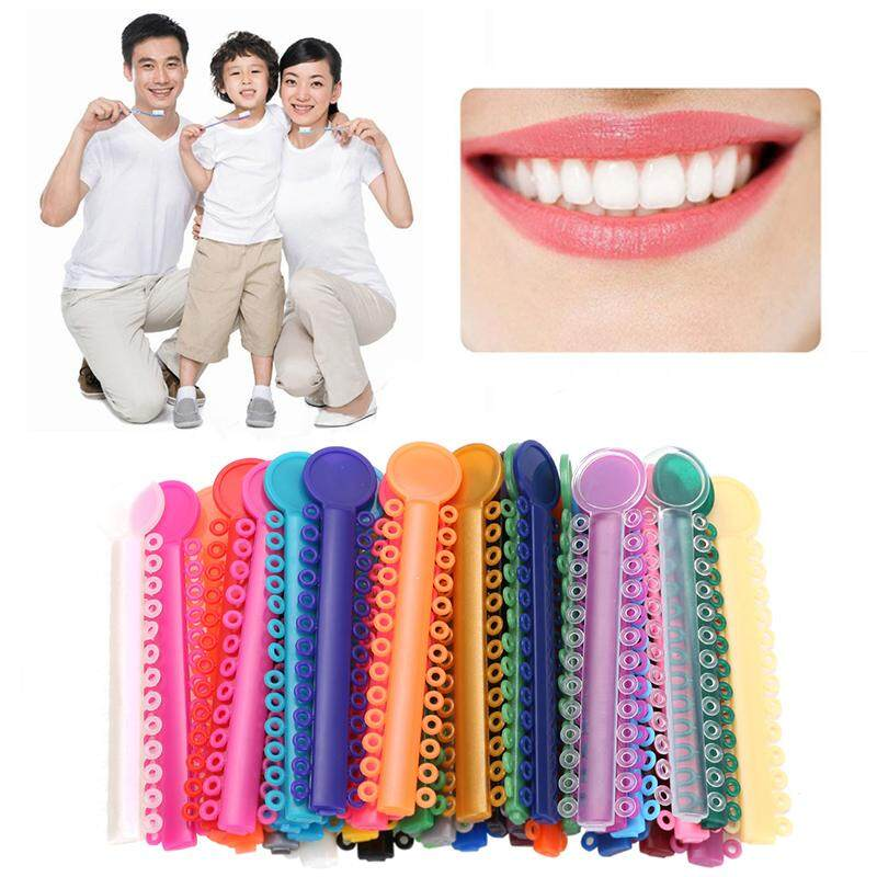 1 Pack (1040pcs) Colorful Dental Orthodontic Elastic Ligature Ties Rubber Band image