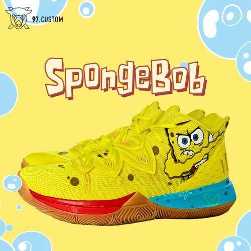 NIKE_Kyrie 5 X SpongeBob Sneakers Custom Perubahan Warna