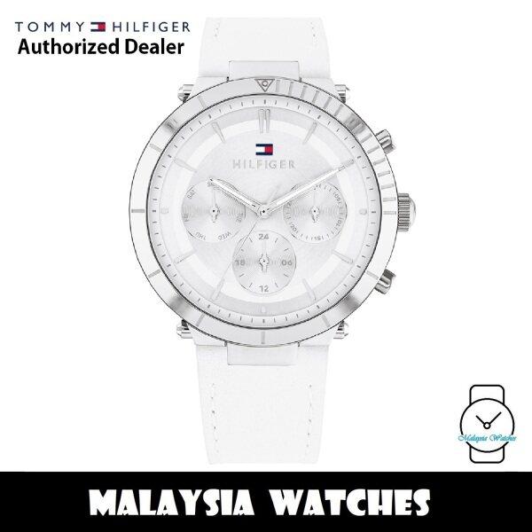 (100% Original) Tommy Hilfiger 1782352 Emery Multi Dial White Leather Strap Womens Watch (2 Years International Warranty) Malaysia